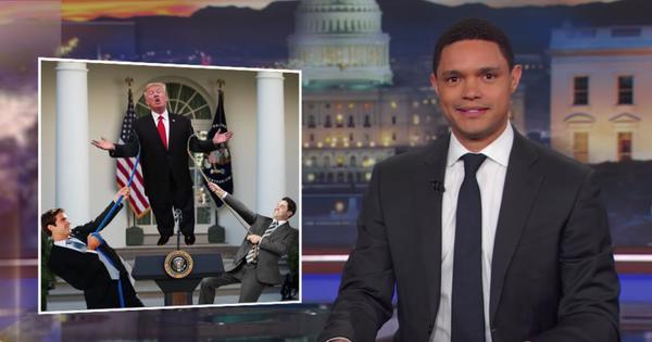 Watch: Donald Trump claims he 'misspoke'. Noah, Colbert and Kimmel aren't buying it