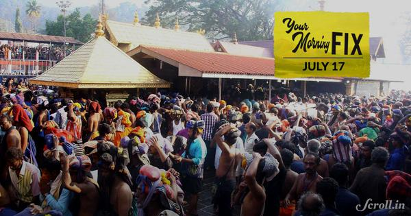 Your Morning Fix: Will the Supreme Court ask the Sabarimala temple to open its doors to women?