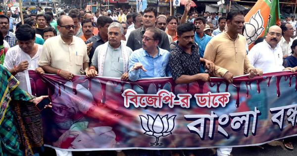 West Bengal: BJP's strike called off ahead of scheduled time, violence reported from a few districts