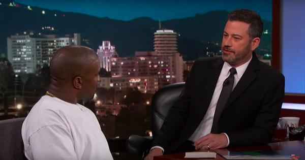 Watch: Talk show host Jimmy Kimmel (all but) shuts down Donald Trump supporter Kanye West