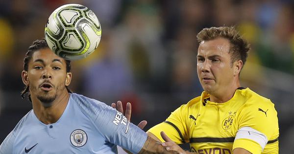 Manchester City begin pre-season with 0-1 defeat to Borussia Dortmund in Champions Cup