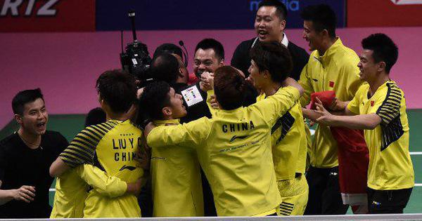 China shuttlers down Japan to lift Thomas Cup