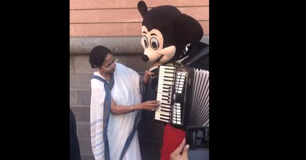 Watch: Mamata Banerjee took over 'Mickey Mouse's' accordion to play 'We Shall Overcome' in Germany