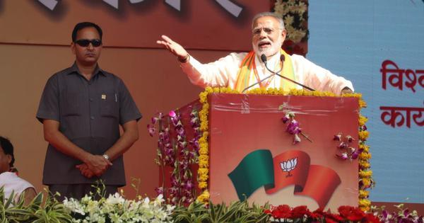 कांग्रेस छत्तीसगढ़ के सच्चे लोगों से झूठे वादे कर रही है : नरेंद्र मोदी