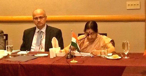 Sushma Swaraj calls for regional cooperation in SAARC, Pakistan accuses India of blocking it