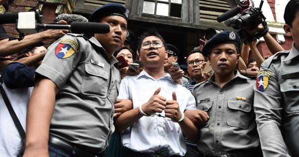 Aung San Suu Kyi's global image takes another beating as Myanmar sends two journalists to jail