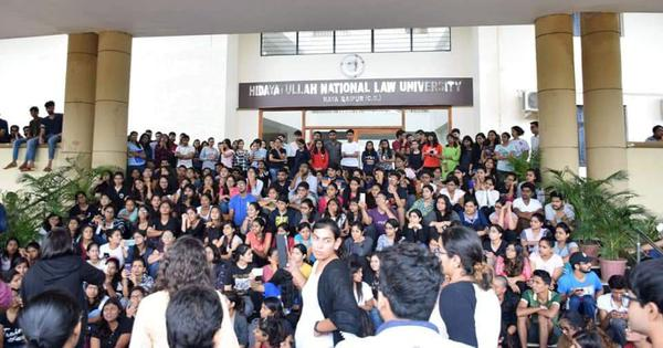 Raipur: Vice chancellor of Hidayatullah National Law University resigns after student protests