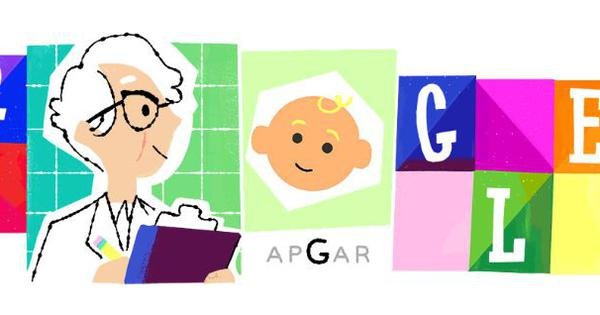 Google doodle honours anesthesiologist Virginia Apgar who created test to determine newborn's health