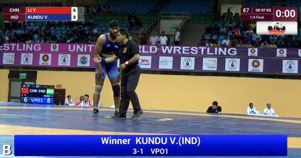 India's Viresh Kundu wins bronze at Junior Asian Wrestling Championships