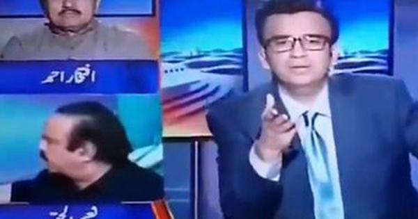 पाकिस्तान : इमरान खान की पार्टी के नेता ने टीवी शो के दौरान मंत्री को थप्पड़ मारा