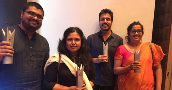 Scroll.in's Menaka Rao, Shone Satheesh, Smitha Nair and Sruthisagar Yamunan win RedInk awards