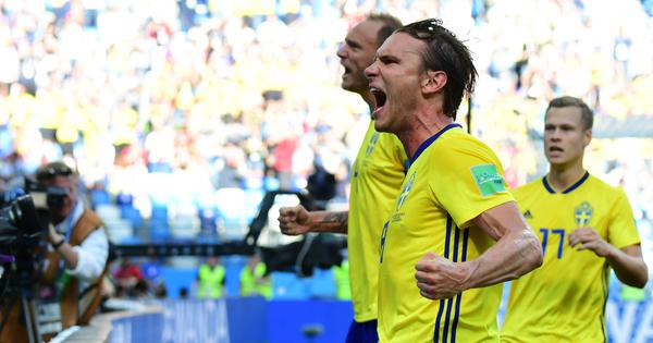 Fifa World Cup: Sweden dominate South Korea as Granqvist scores VAR-awarded penalty