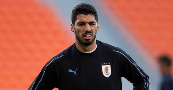 Luis Suarez seeks World Cup redemption in 100th appearance for Uruguay