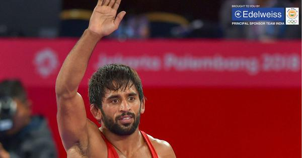 Champion: Wrestler Bajrang Punia bags India's first gold medal at 2018 Asian Games