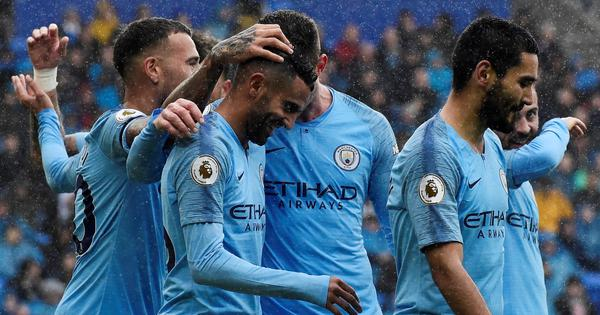 Mahrez scores brace as Man City bounce back from Champions League setback with 5-0 rout