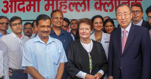 Delhi: Former UN Secretary General Ban Ki-moon praises AAP's mohalla clinic initiative