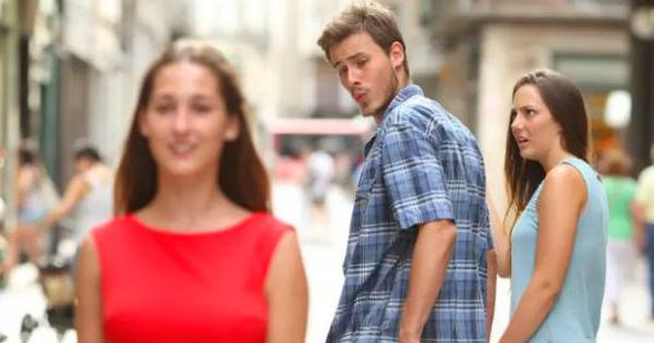 That 'distracted boyfriend' meme? Twitter users uncover the backstory of the woman by his side