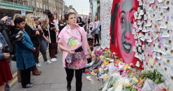 Watch: A mural of Savita Halappanavar became a site for vigils as Ireland voted to legalise abortion