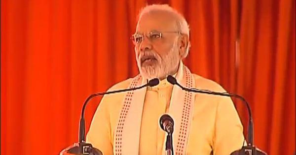 Previous governments left development projects incomplete, Narendra Modi says in Uttar Pradesh