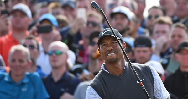 With six birdies in a round, Tiger Woods rolls back the days at the British Open
