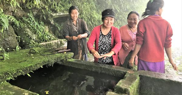 In Sikkim, a spring rejuvenation scheme is helping villages tide over summer water shortage