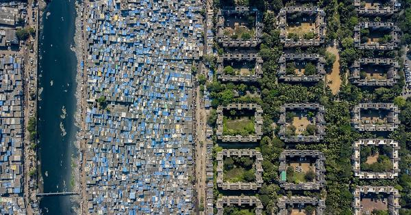 Mumbai's staggering inequality comes into clear focus in an American photographer's drone images