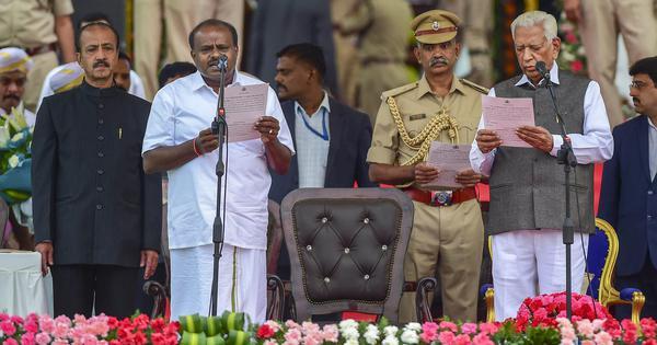 'एचडी कुमारस्वामी के शपथ ग्रहण समारोह में भाजपा की तरफ़ से सिर्फ़ राज्यपाल शामिल हुए हैं!'