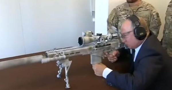 Watch: Russian President Vladimir Putin shows off his sharpshooting skills with a Kalashnikov rifle