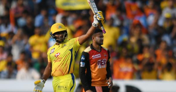 अंबाती रायडू को हैदराबाद के गेंदबाज खूब रास आते हैं, वे इस टीम के खिलाफ पिछली दस पारियों में 385 रन बना चुके हैं