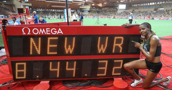 Kenya's Beatrice Chepkoech breaks 3,000m steeplechase world record at Monaco Diamond League