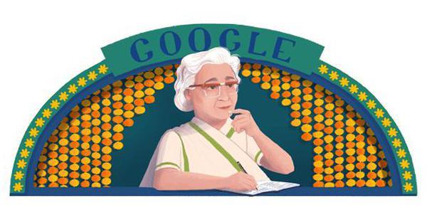उर्दू की प्रसिद्ध लेखिका इस्मत चुगतई को गूगल ने डूडल बना कर याद किया