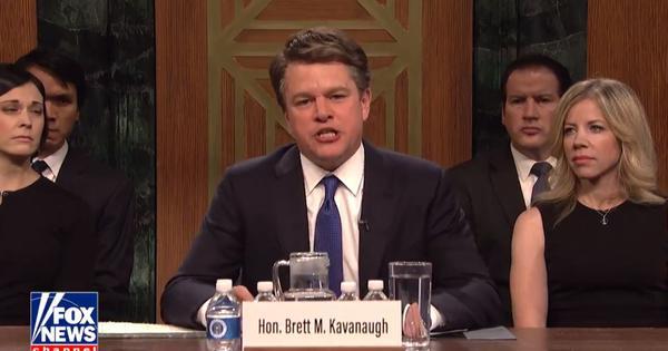 Watch: Matt Damon plays an angry Brett Kavanaugh in Saturday Night Live satirical skit