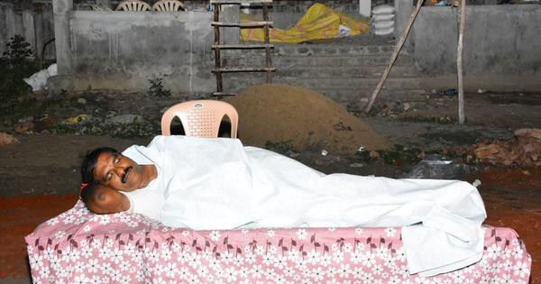 Andhra Pradesh: TDP MLA sleeps at crematorium to assuage construction workers' fears