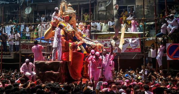 In photos: Devotees bid adieu to Lord Ganesh across the country