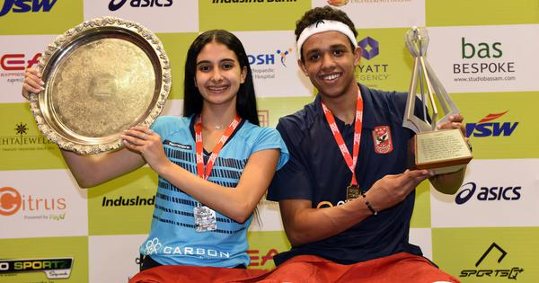 Squash junior worlds: In Chennai mall, Egyptian stars put up a show as Asal and Araby win titles
