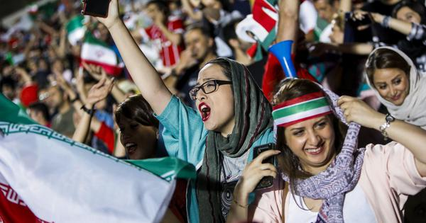 In photos: History made in Iran as women enter stadium for first time since 1979 to watch Spain game