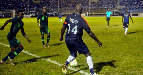 At 51, Liberia president George Weah plays in international friendly against Nigeria