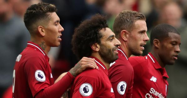 Mohamed Salah returns to scoring ways as Liverpool return to top spot in table
