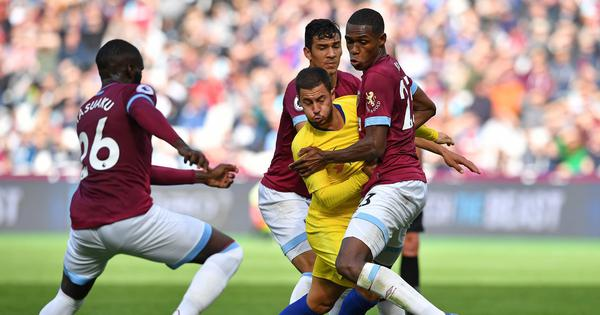 Premier League: West Ham halt Chelsea's winning streak with a goalless draw