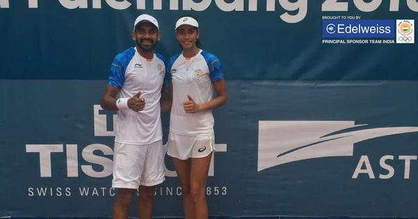 Asian Games 2018: Divij Sharan-Karman Kaur Thandi win testing mixed doubles opener
