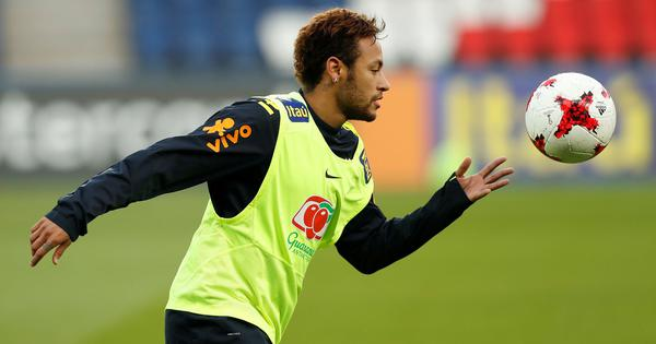 A day after limping out, Neymar back in training ahead of Brazil's clash with Costa Rica