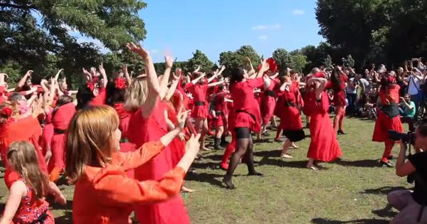 Watch: Hundreds of Kate Bush fans re-create the iconic 'Wuthering Heights' video