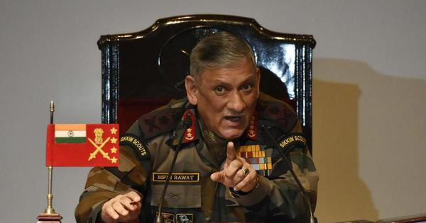पाकिस्तान बातचीत चाहता है तो उसे आतंकवाद पर लगाम कसनी होगी : बिपिन रावत
