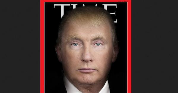 'Petrifying': 'Time' magazine stuns Twitter as it merges Donald Trump's face with Vladimir Putin's