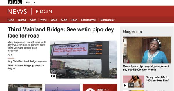 Why West Africa's widely spoken pidgin tongues should be recognised as official languages