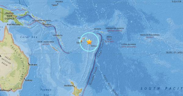 Massive 8.2 magnitude earthquake strikes Pacific Ocean near Fiji, no casualties reported