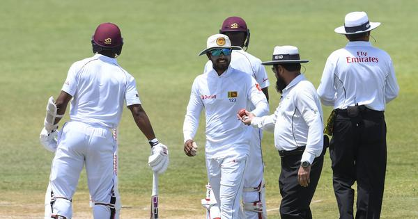 Sri Lanka fight back against West Indies on day three marred by ball-tampering row