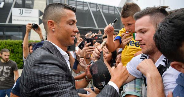 'Bring us the Champions League': Juventus-bound Ronaldo receives a rousing welcome at Turin