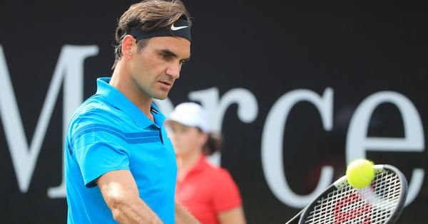 Roger Federer holds off Matt Ebden to set up Halle semi-final with Denis Kudla