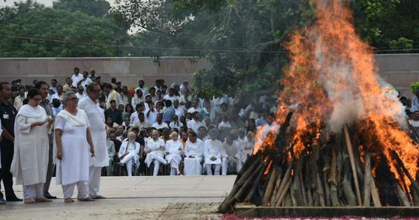Delhi: Atal Bihari Vajpayee cremated with state honours at Rashtriya Smriti Sthal